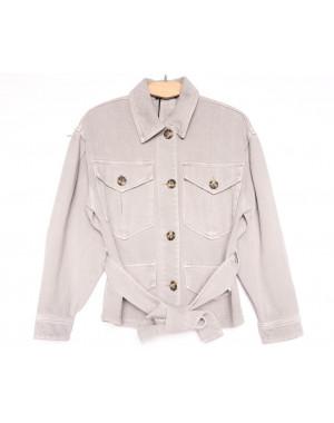 9067-8 Saint Wish куртка джинсовая женская серая весенняя коттоновая (ХS-XL, 5 ед.)
