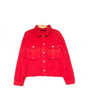 9020-4 Saint Wish куртка джинсовая женская красная весенняя коттоновая (ХS-XL, 5 ед.)