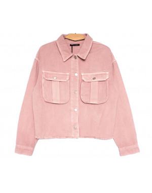 9020-2 Saint Wish куртка джинсовая женская розовая весенняя коттоновая (ХS-XL, 5 ед.)