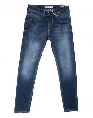 6169 Blue Nil джинсы мужские с царапкой синие весенние стрейчевые (29-36, 8 ед.)