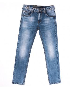 9439 God Baron джинсы мужские с теркой синие весенние стрейчевые (30-38, 8 ед.)