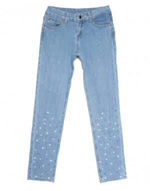 0061 Jushioumfiva джины женские стильные синие весенние стрейчевые (25-30, 6 ед.)