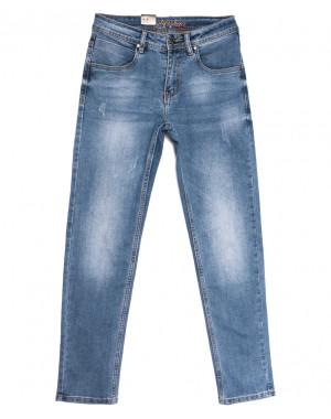 2224 Longli джинсы мужские с царапками синие весенние стрейчевые (29-38, 8 ед.)