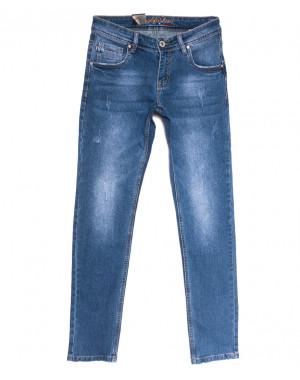 2232 Longli джинсы мужские молодежные с царапками синие весенние стрейчевые (28-36, 8 ед.)