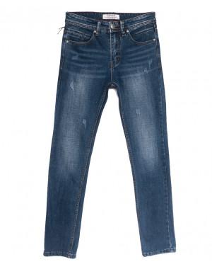 0641-В Likgass джинсы мужские молодежные с царапками синие весенние стрейчевые (28-36, 8 ед.)