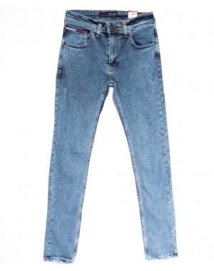 6817 Destry джинсы мужские с царапками синие весенние стрейчевые (29-36, 8 ед.)