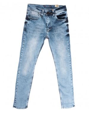 6776 Redcode джинсы мужские с царапками синие весенние стрейчевые (29-36, 8 ед.)