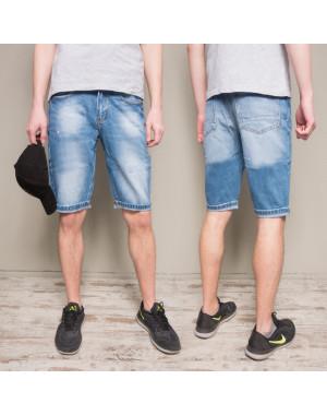 8812-4 R Relucky шорты джинсовые мужские молодежные синие коттоновые (28-36, 8 ед.)