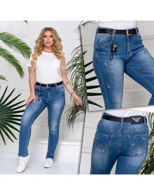 96370 Jo&Jo джинсы женские батальные с царапками весенние стрейчевые (30-36, 6 ед.)