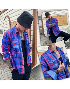 0746 YXC рубашка мужская батальная в клетку котоновая (3XL-6XL, 4 ед.)