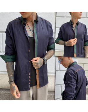 Синяя мужская рубашка YXC 2010-5