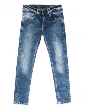 6858 Blue Nil джинсы мужские с царапками синие весенние стрейчевые (29-36, 8 ед.)