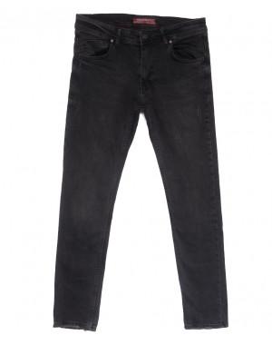6501 Fashion red джинсы мужские полубатальные c царапками серые весенние стрейчевые (32-40, 8 ед.)