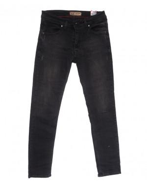 6810 Redcode джинсы мужские полубатальные c царапками серые весенние стрейчевые (32-40, 8 ед.)