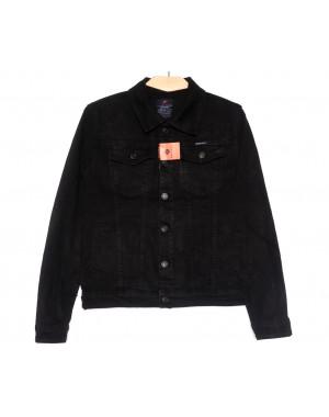 0225-2 A Relucky куртка джинсовая женская черная осенняя стрейчевая (S-ХХL, 6 ед.)