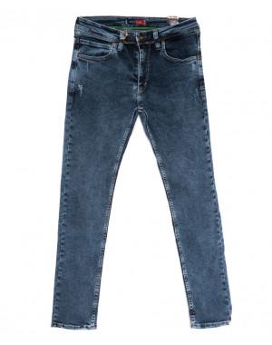 6947 Redcode джинсы мужские полубатальные с царапками синие стрейчевые (32-40, 8 ед.)