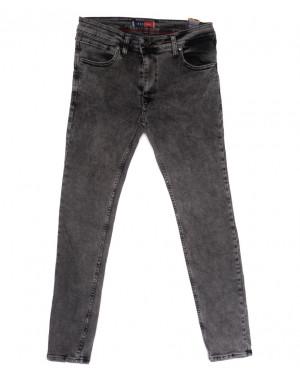 6943 Redcode джинсы мужские полубатальные с царапками серые весенние стрейчевые (32-40, 8 ед.)