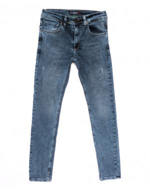 6879 Fashion red джинсы мужские с царапками синие весенние стрейчевые (29-36, 8 ед.)
