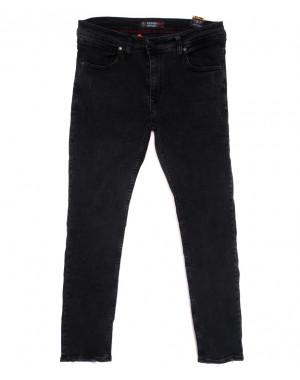 6945 Fashion Red джинсы мужские полубатальные с царапками серые весенние стрейчевые (32-40, 8 ед.)