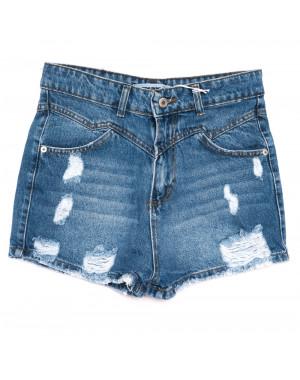 3355 Xray шорты джинсовые женские с рванкой синие коттоновые (34-42, 5 ед.)