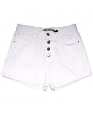 1548 Gecce шорты джинсовые женские на пуговицах белые коттоновые (34-42,евро, 5 ед.)