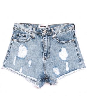 3439 Xray шорты джинсовые женские с рванкой синие коттоновые (34-40,евро, 5 ед.)