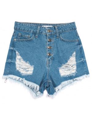 5864 Gecce шорты джинсовые женские с рванкой синие коттоновые (34-40,евро, 6 ед.)