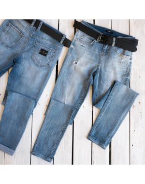 9425-626 Colibri джинсы женские с рванкой синие осенние стрейчевые