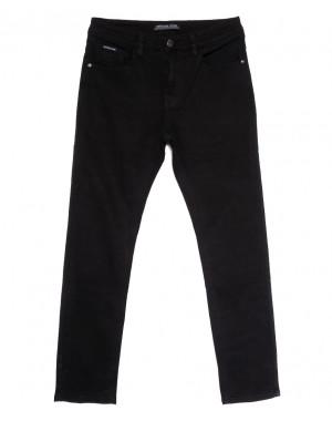 09777 (09-777) Reigouse джинсы мужские полубатальные черные осенние стрейчевые (32-42, 8 ед.)