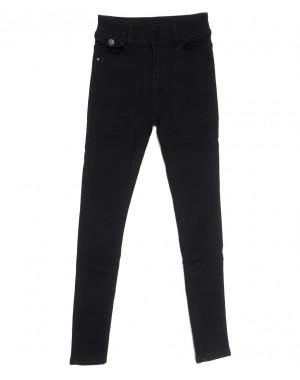 0573 New Jeans американка на флисе черная зимняя стрейчевая (25-30, 6 ед.)