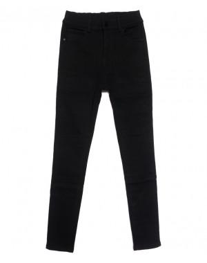 0571 New Jeans американка на флисе черная зимняя стрейчевая (25-30, 6 ед.)