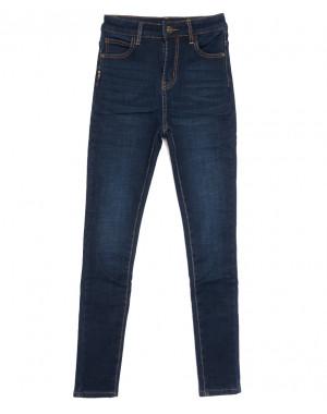 0587 New Jeans американка на флисе синяя зимняя стрейчевая (25-30, 6 ед.)