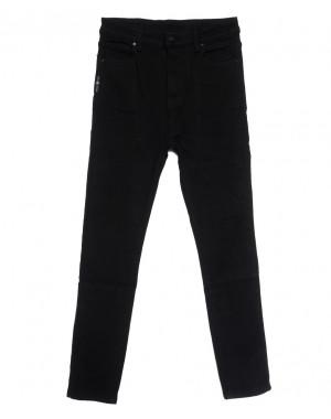 0575 New Jeans американка батальная на флисе черная зимняя стрейчевая (31-36, 6 ед.)