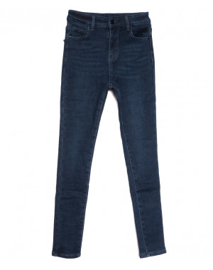 0613 New Jeans американка на флисе синяя зимняя стрейчевая (25-30, 6 ед.)