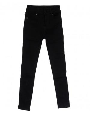 0560 New Jeans американка на флисе черная зимняя стрейчевая (25-30, 6 ед.)