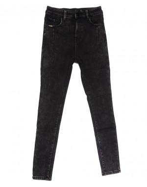 0579 New Jeans американка на флисе серая зимняя стрейчевая (25-30, 6 ед.)
