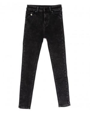 0578 New Jeans американка на флисе темно-серая зимняя стрейчевая (25-30, 6 ед.)
