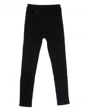 0562 New Jeans американка на флисе черная зимняя стрейчевая (25-30, 6 ед.)