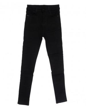 0563 New Jeans американка на флисе черная зимняя стрейчевая (25-30, 6 ед.)