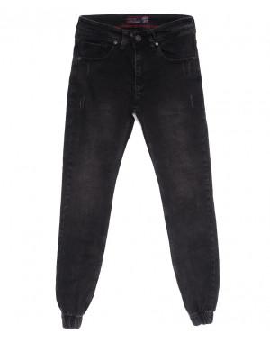 7245 Destry джинсы мужские на резинке с царапками серые осенние стрейчевые (29-36, 8 ед.)