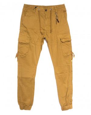 8956-14 песочные брюки карго мужские стрейчевые (5 ед. размеры: 29.30.32.34.36)