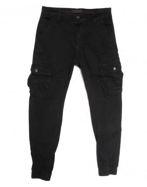 1961-1 Forex брюки карго мужские черные стрейчевые (6 ед. размеры: 30.32.34.36.38.40)