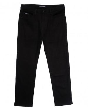 02377 Reigouse джинсы мужские батальные на флисе черные зимние стрейчевые (36-46, 8 ед.)