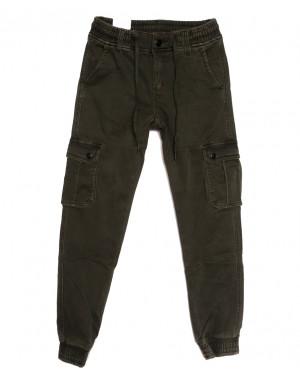 8389 Reman брюки карго мужские на флисе хаки зимние стрейчевые (29-38, 8 ед.)