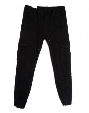 8385 Reman брюки карго мужские на флисе черные зимние стрейчевые (29-38, 8 ед.)