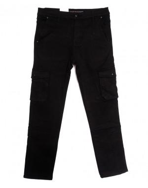 8392 Reman брюки карго мужские полубатальные на флисе черные зимние стрейчевые (32-42, 8 ед.)