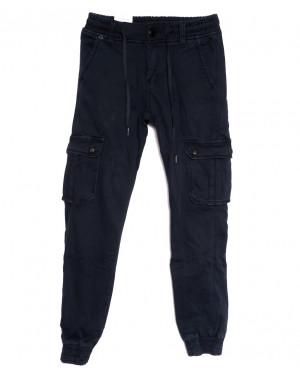 8384 Reman брюки карго мужские молодежные на флисе темно-синие зимние стрейчевые (28-36, 8 ед.)