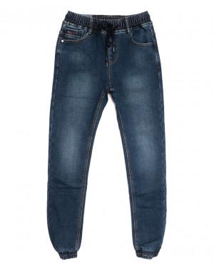 7577 Crossnese джинсы мужские молодежные на резинке на флисе синие зимние стрейчевые (27-34, 8 ед.)