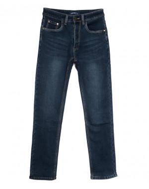 8002 Lavrs джинсы мужские молодежные на флисе синие зимние стрейчевые (28-36, 8 ед.)