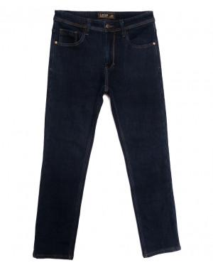 04999 T-Star джинсы мужские полубатальные на флисе темно-синие зимние стрейчевые (32-42, 8 ед.)